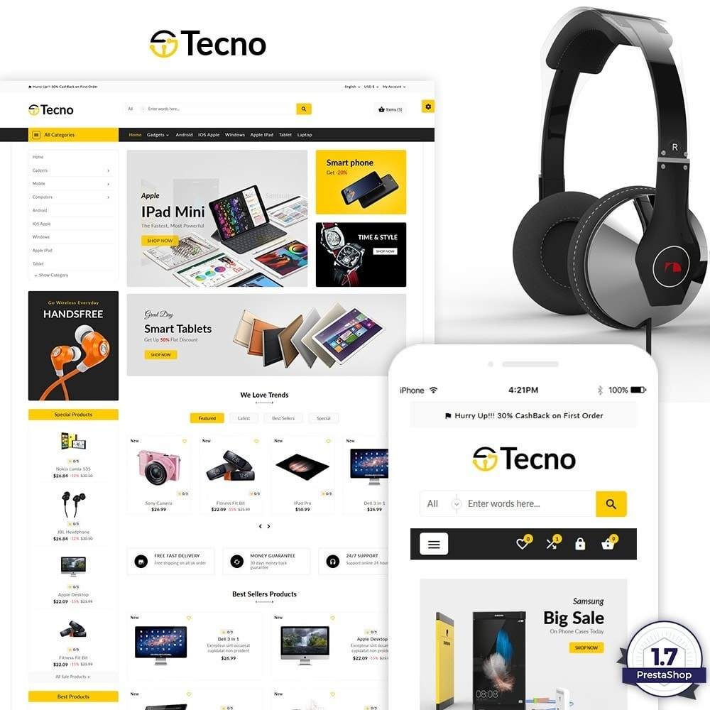 theme - Eletrônicos & High Tech - Tecno – The Electronic Multi Purpose Store - 2