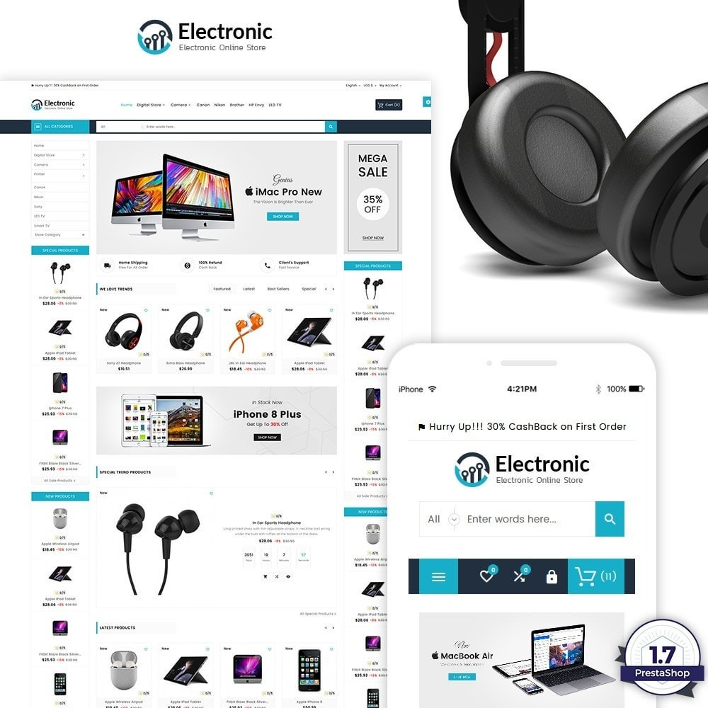 theme - Electronique & High Tech - Electronic – The Electronic Mega Shop - 2
