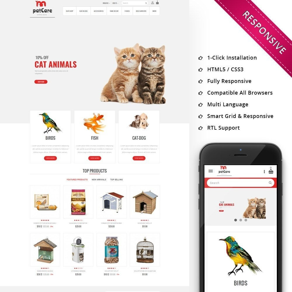 theme - Animals & Pets - Patcare - The Animal Store - 1