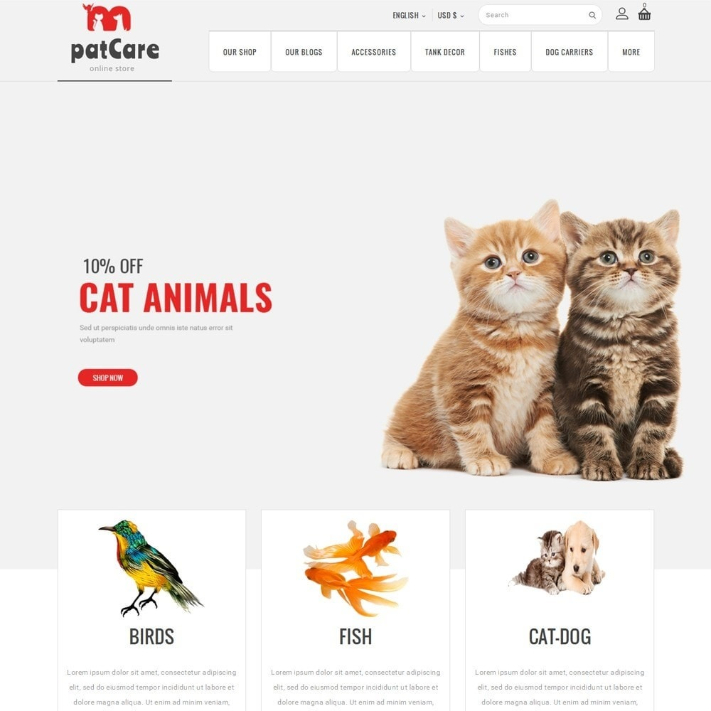 theme - Animais - Patcare - The Animal Store - 2
