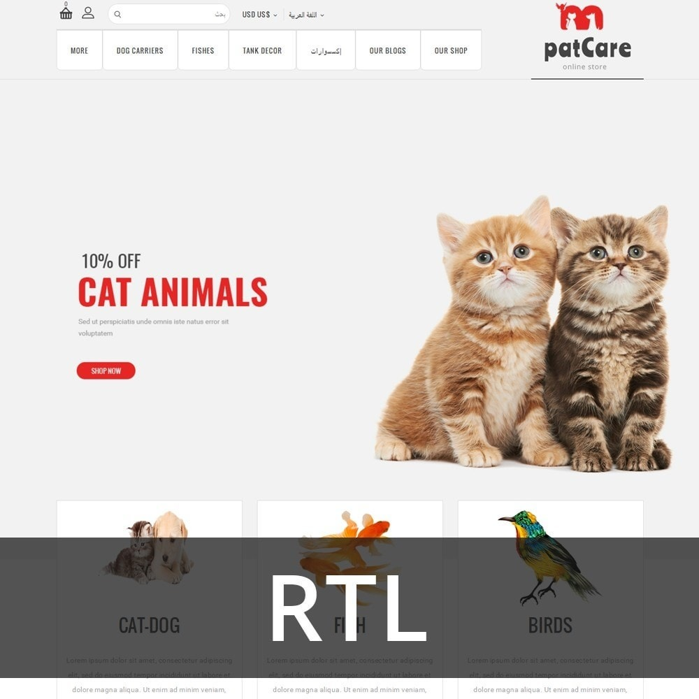 theme - Animals & Pets - Patcare - The Animal Store - 3