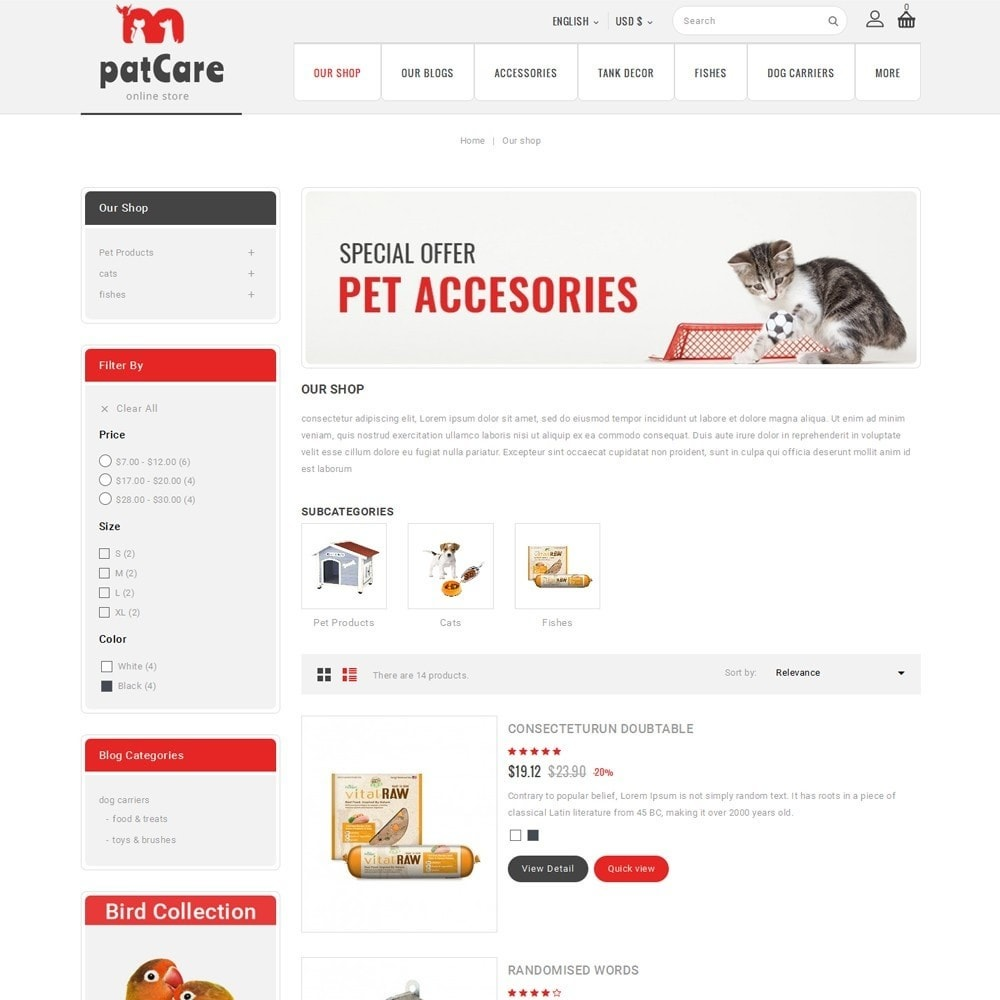 theme - Animals & Pets - Patcare - The Animal Store - 5