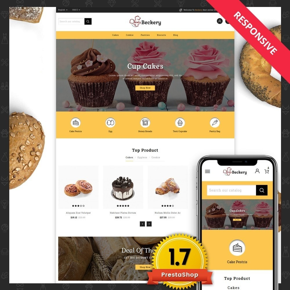 theme - Lebensmittel & Restaurants - Bakery Store - 1