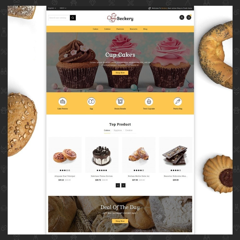 theme - Lebensmittel & Restaurants - Bakery Store - 2