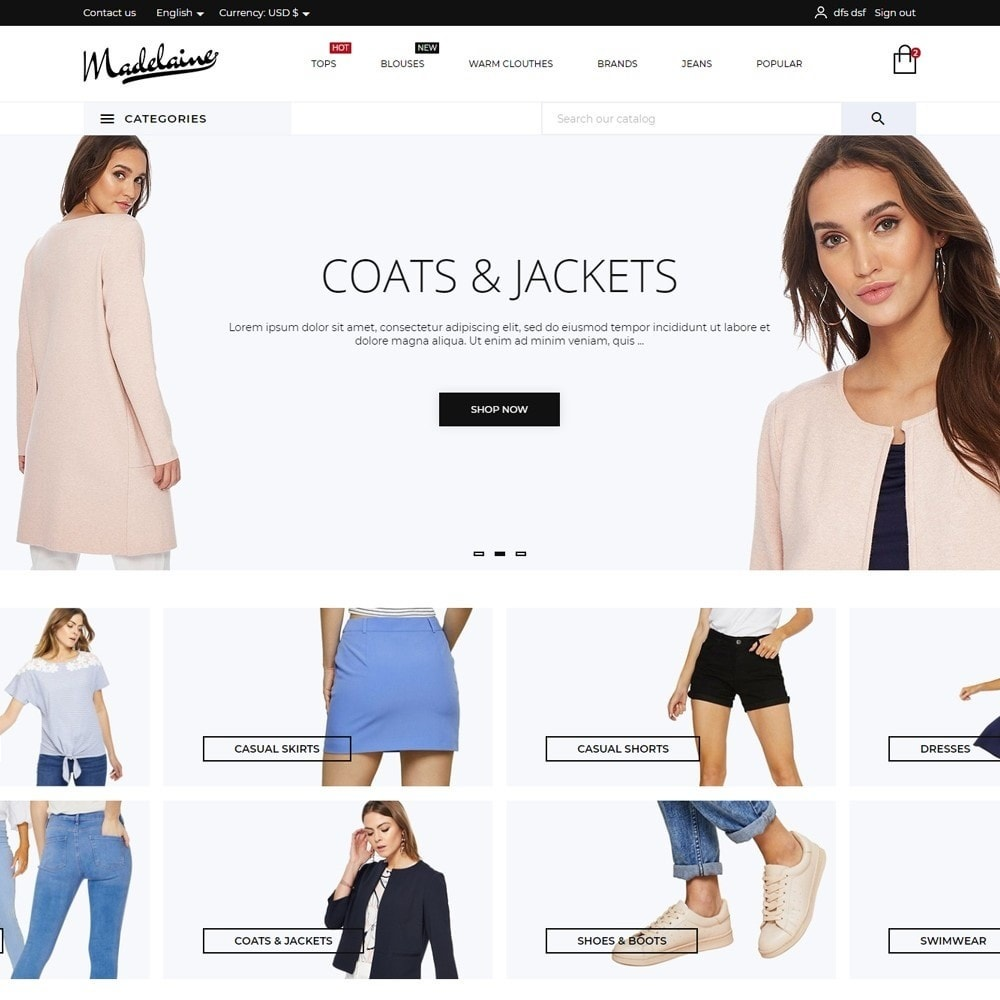 theme - Mode & Chaussures - Madelaine Fashion Store - 2