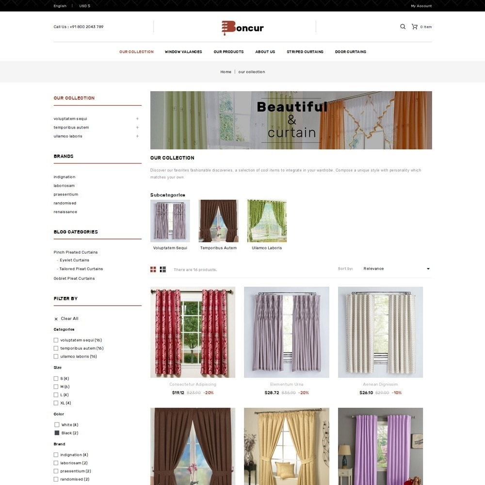 theme - Maison & Jardin - Boncur - The Curtain Shop - 4