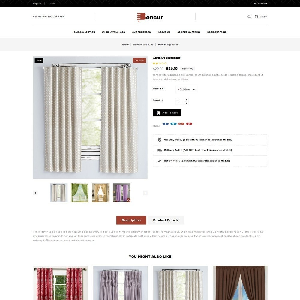 theme - Maison & Jardin - Boncur - The Curtain Shop - 6