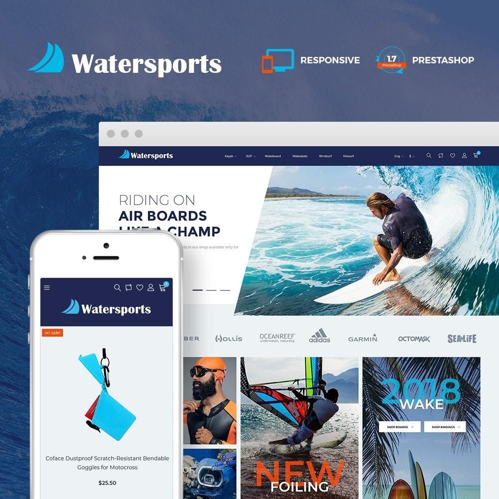 theme - Desporto, Actividades & Viagens - Watersports - Diving Store - 1