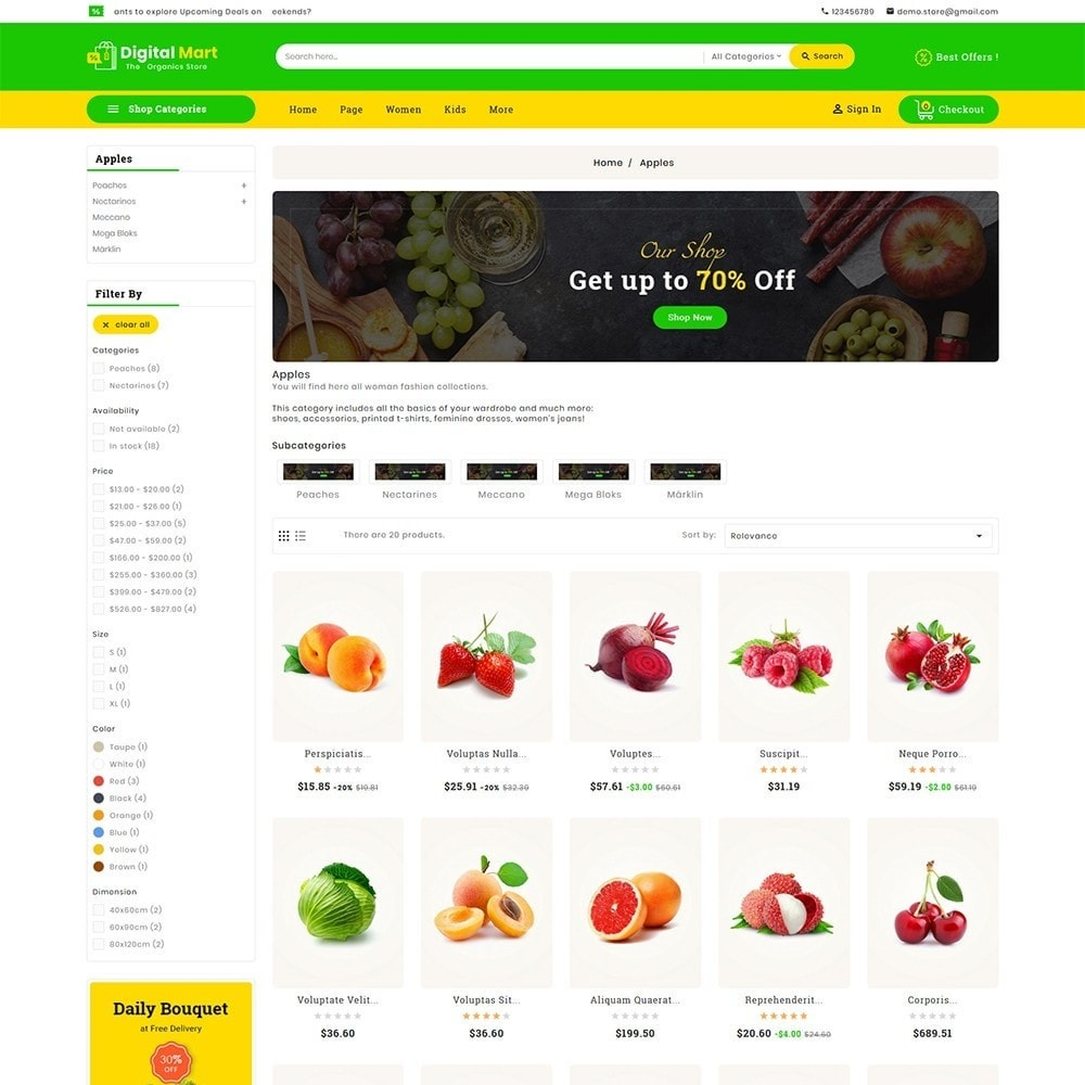 theme - Alimentos & Restaurantes - Digital Mart Grocery Food - 4