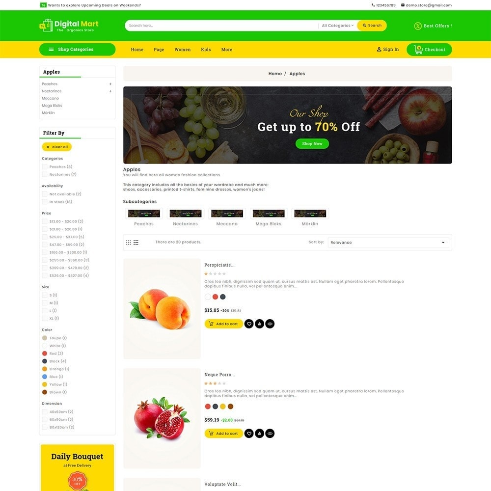 theme - Food & Restaurant - Digital Mart Grocery Food - 5