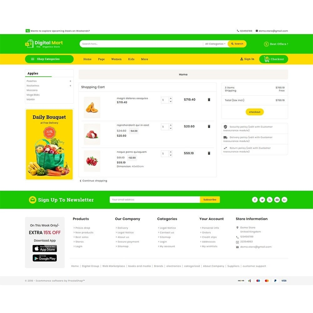 theme - Alimentos & Restaurantes - Digital Mart Grocery Food - 7