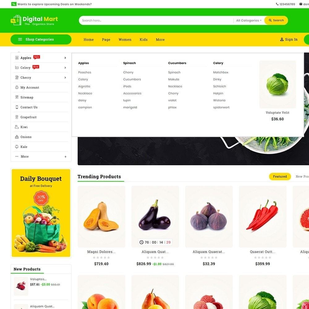 theme - Food & Restaurant - Digital Mart Grocery Food - 10