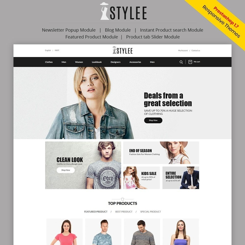theme - Mode & Chaussures - The Stylee - Fashion Store - 1