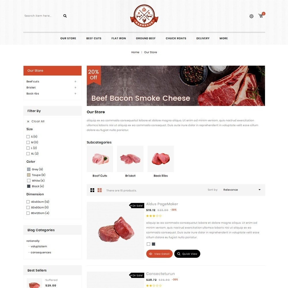 theme - Gastronomía y Restauración - Barbecue - The Meat Shop - 4