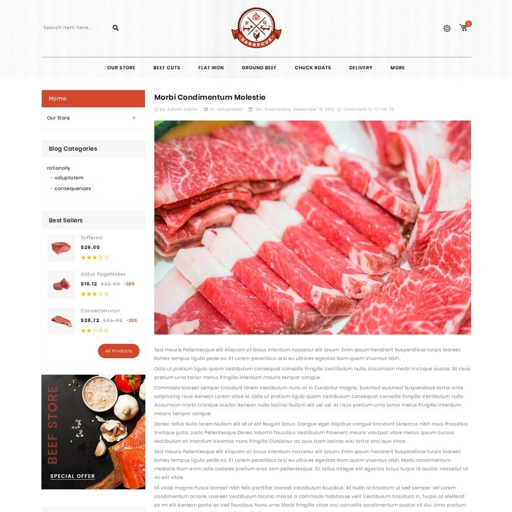 theme - Gastronomía y Restauración - Barbecue - The Meat Shop - 7