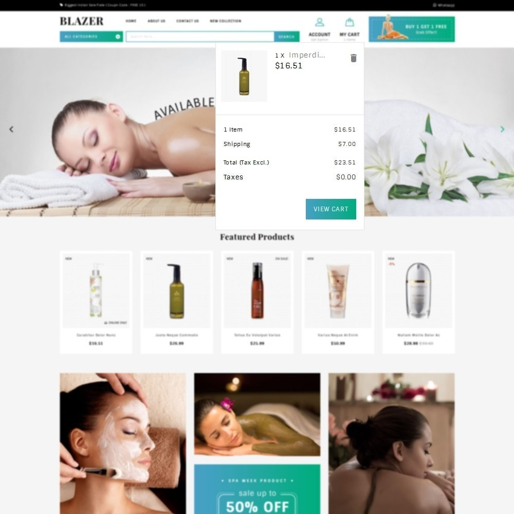 theme - Health & Beauty - Blazer Spa Store - 7