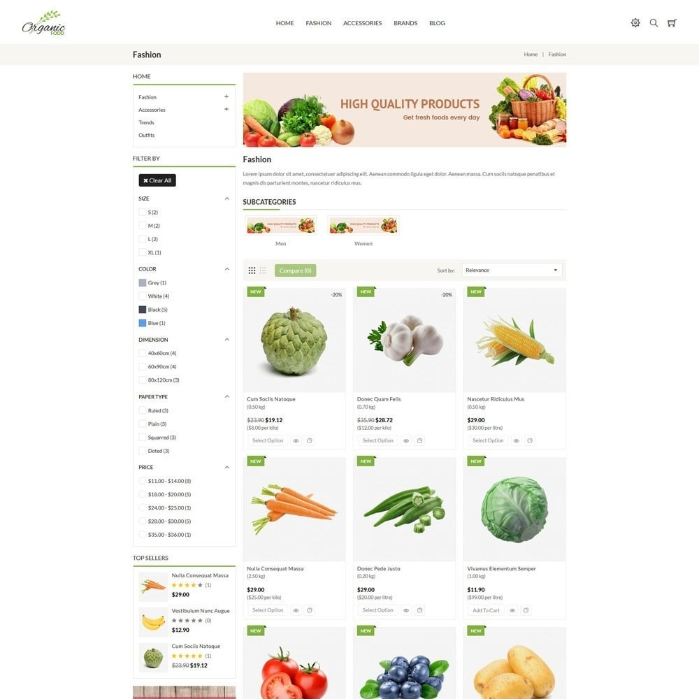 theme - Food & Restaurant - Organic Store - 3
