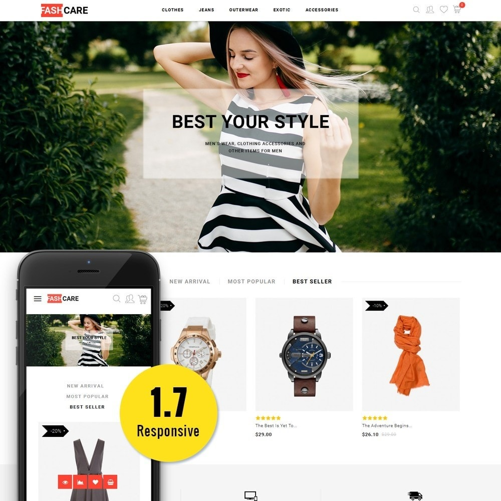 theme - Mode & Chaussures - Fashcare Fashion Store - 1