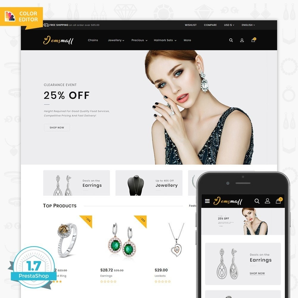 theme - Jewelry & Accessories - JemsMall - Royal Jewellery Shop - 1