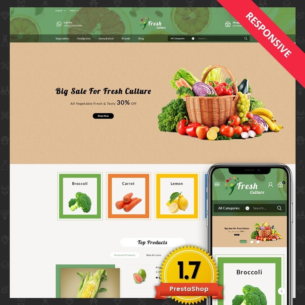 theme - Food & Restaurant - Fresh Culture Organic Store - 1
