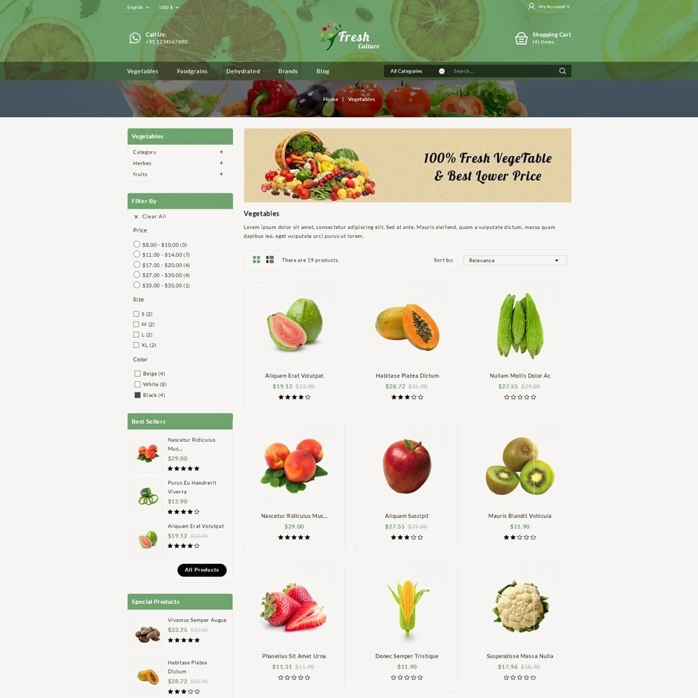theme - Food & Restaurant - Fresh Culture Organic Store - 3