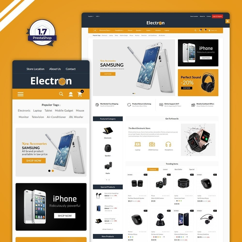 theme - Electronics & Computers - Electron–Electronic Mega Mall - 1