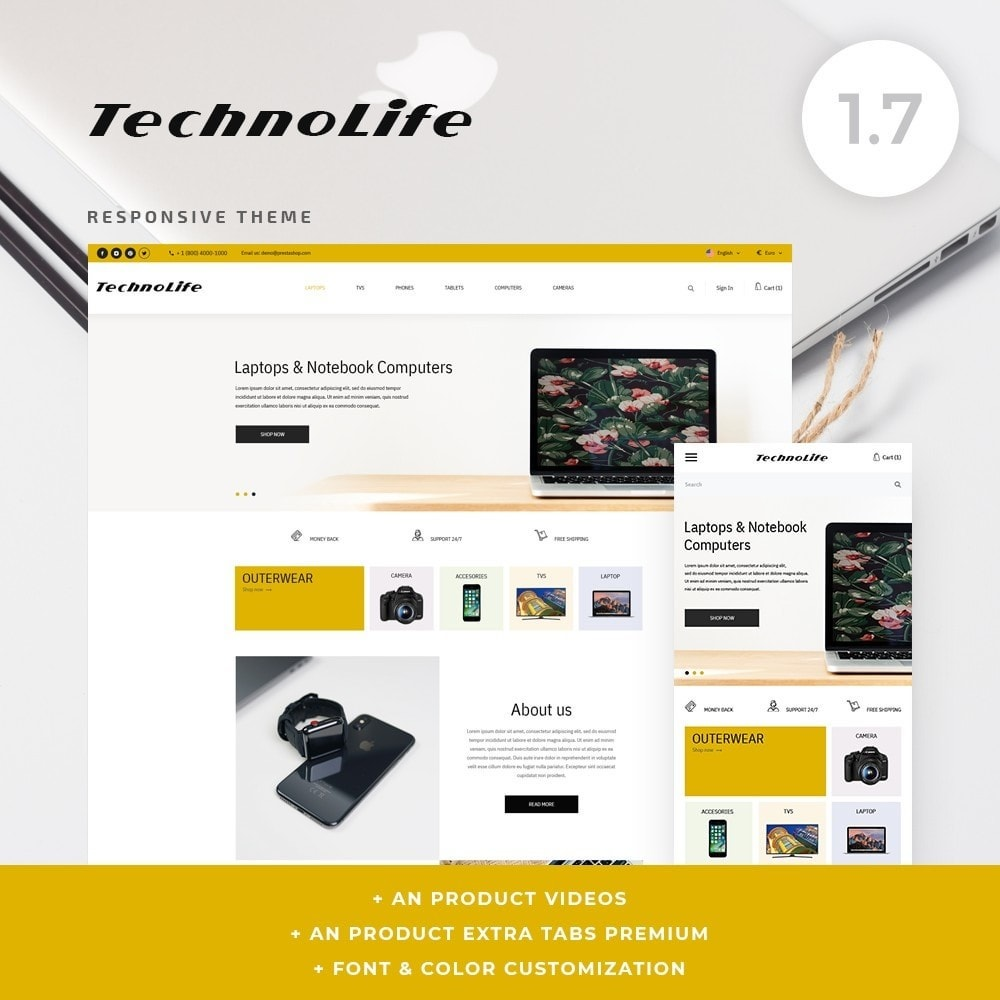 theme - Eletrônicos & High Tech - TechnoLife - High-tech Shop - 1