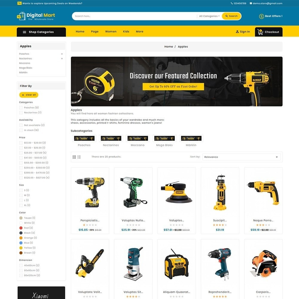 theme - Электроника и компьютеры - Digital Mart Tools Equipment - 5