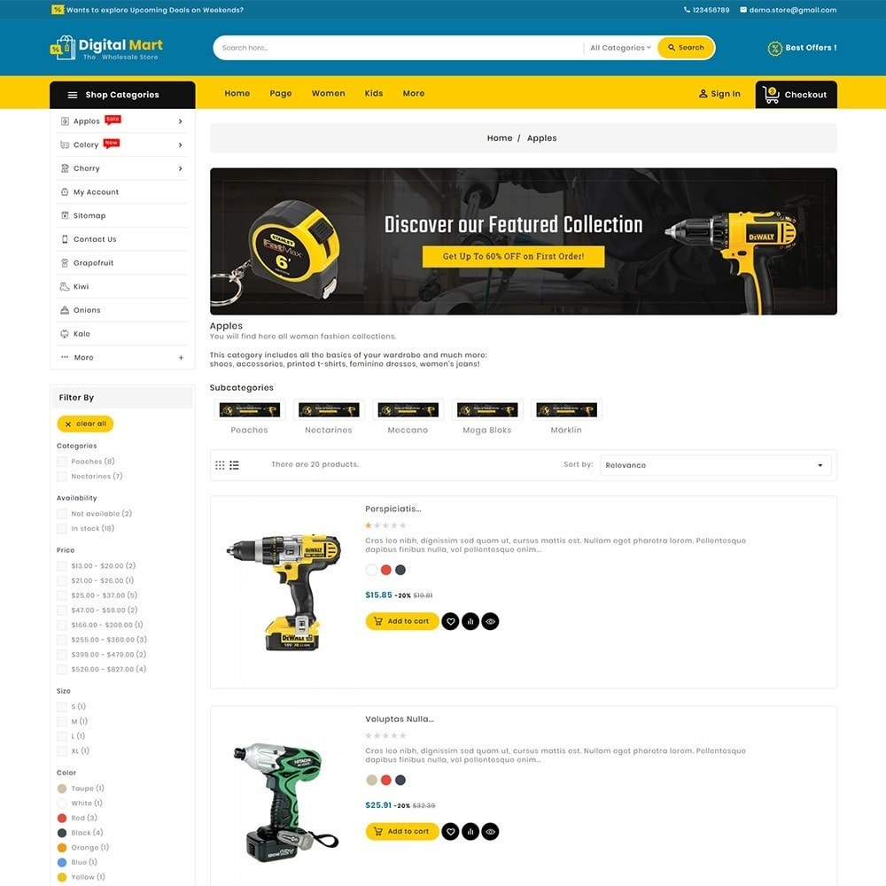 theme - Электроника и компьютеры - Digital Mart Tools Equipment - 6
