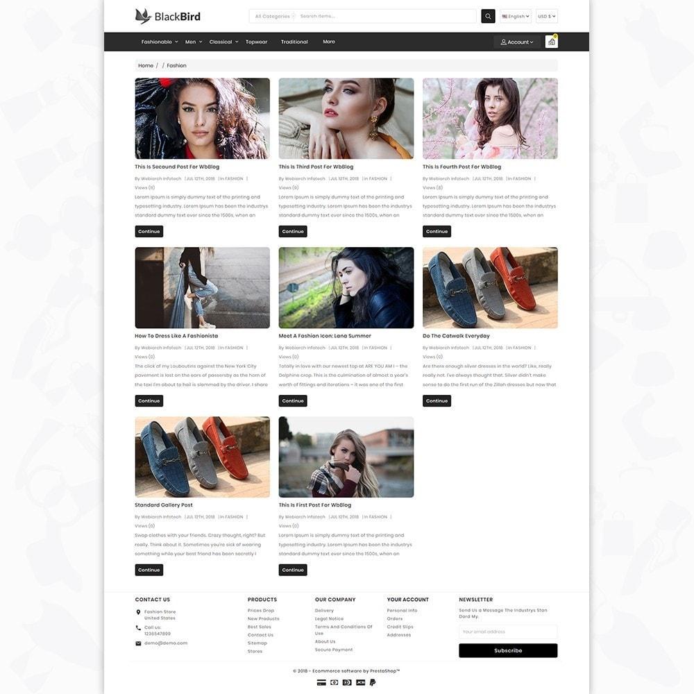 theme - Moda & Calçados - BlackBird - The Fashion Store - 6
