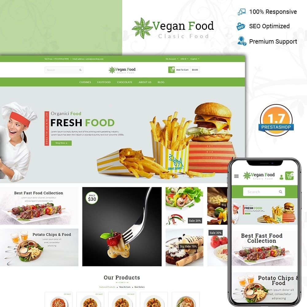 theme - Alimentation & Restauration - Vegan Food Store - 1