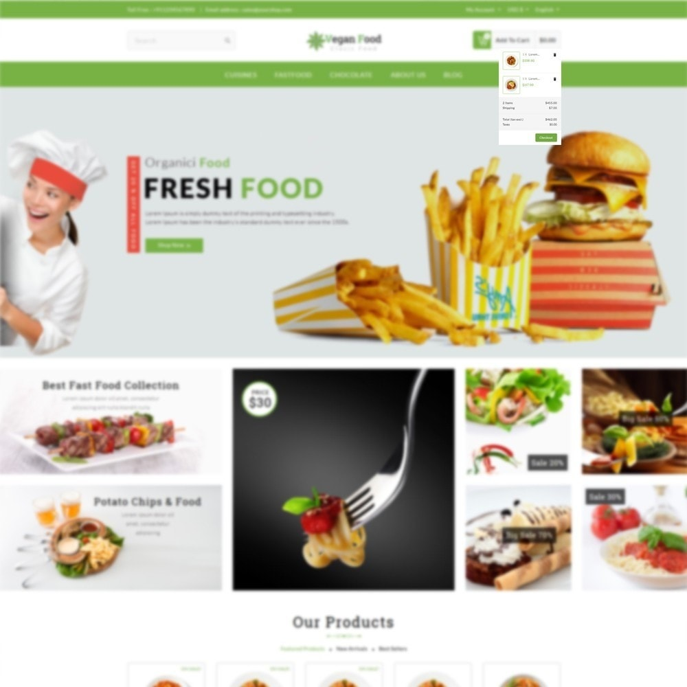 theme - Alimentation & Restauration - Vegan Food Store - 6
