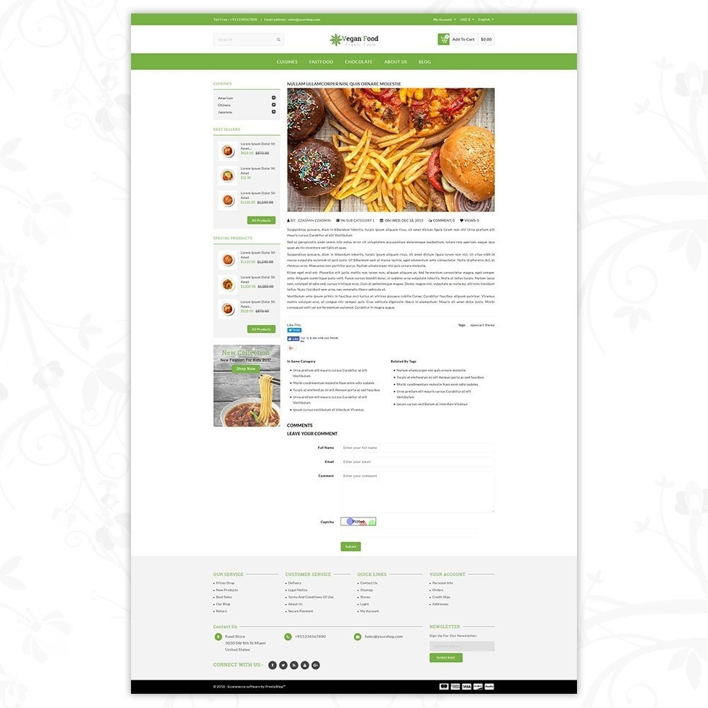 theme - Alimentation & Restauration - Vegan Food Store - 8