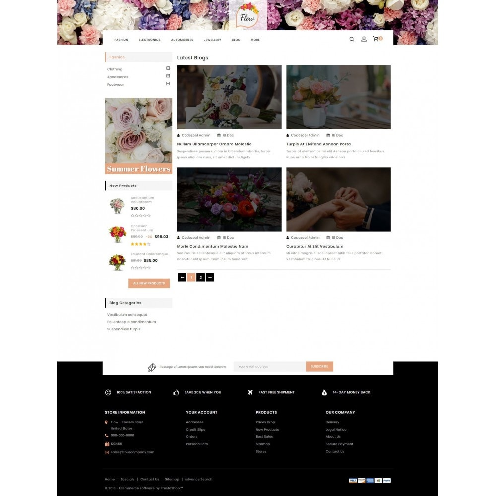 theme - Cadeaux, Fleurs et Fêtes - Flow - Flowers Store - 9