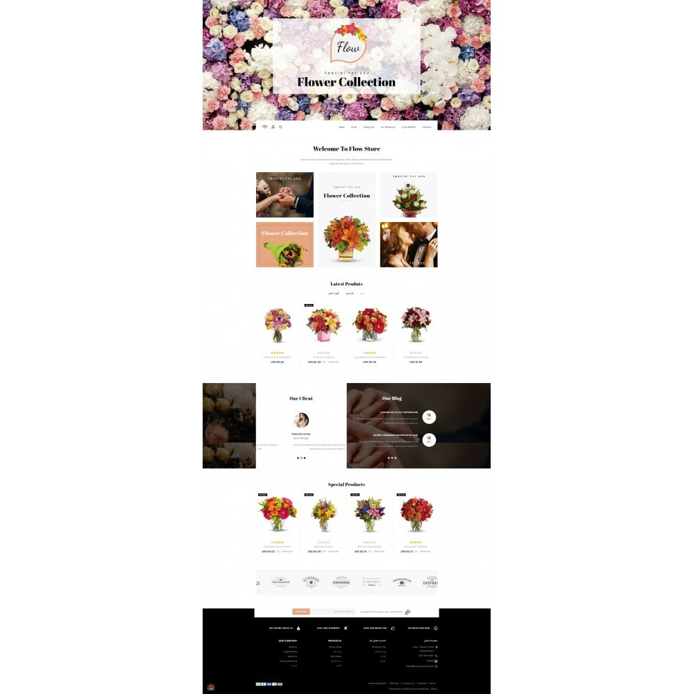 theme - Cadeaux, Fleurs et Fêtes - Flow - Flowers Store - 10