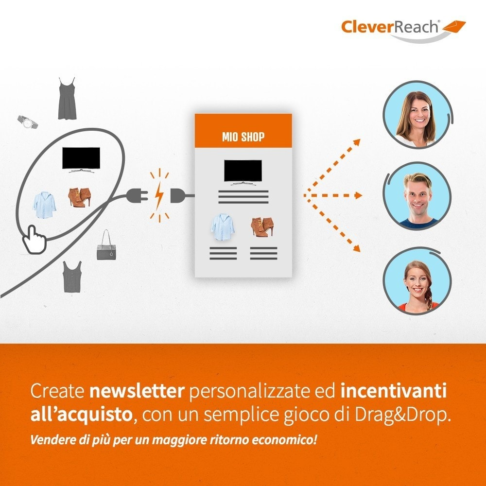 module - Newsletter & SMS - CleverReach® - inviare newsletter - 3