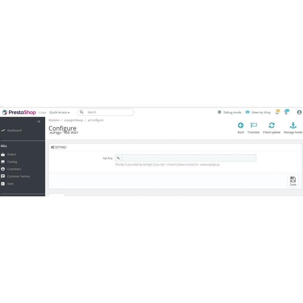 module - Autres moyens de paiement - euPago - MB Way - 2