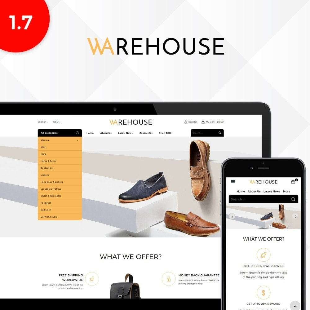 theme - Moda & Calçados - Warehouse Store - 1