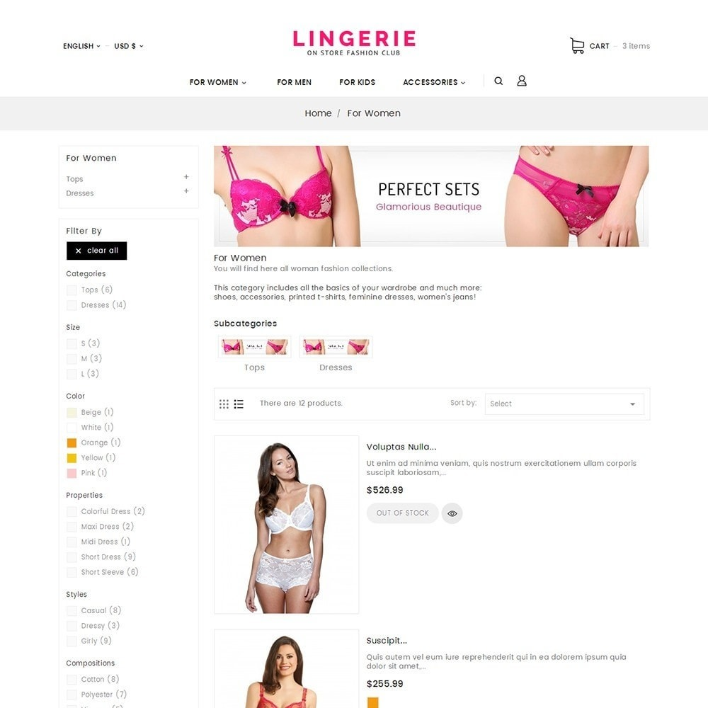 theme - Lingerie & Adult - Lingerie Shop - 6