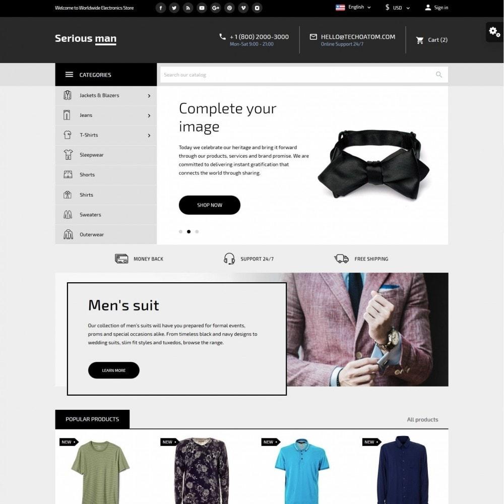 theme - Fashion & Shoes - Serious man Men's Wear - 2