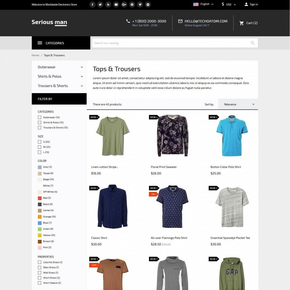 theme - Fashion & Shoes - Serious man Men's Wear - 5