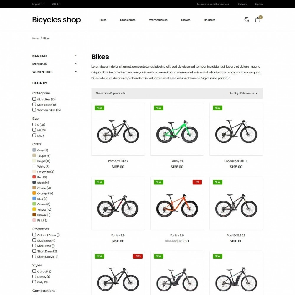 theme - Sports, Activities & Travel - Bicycles shop - 5