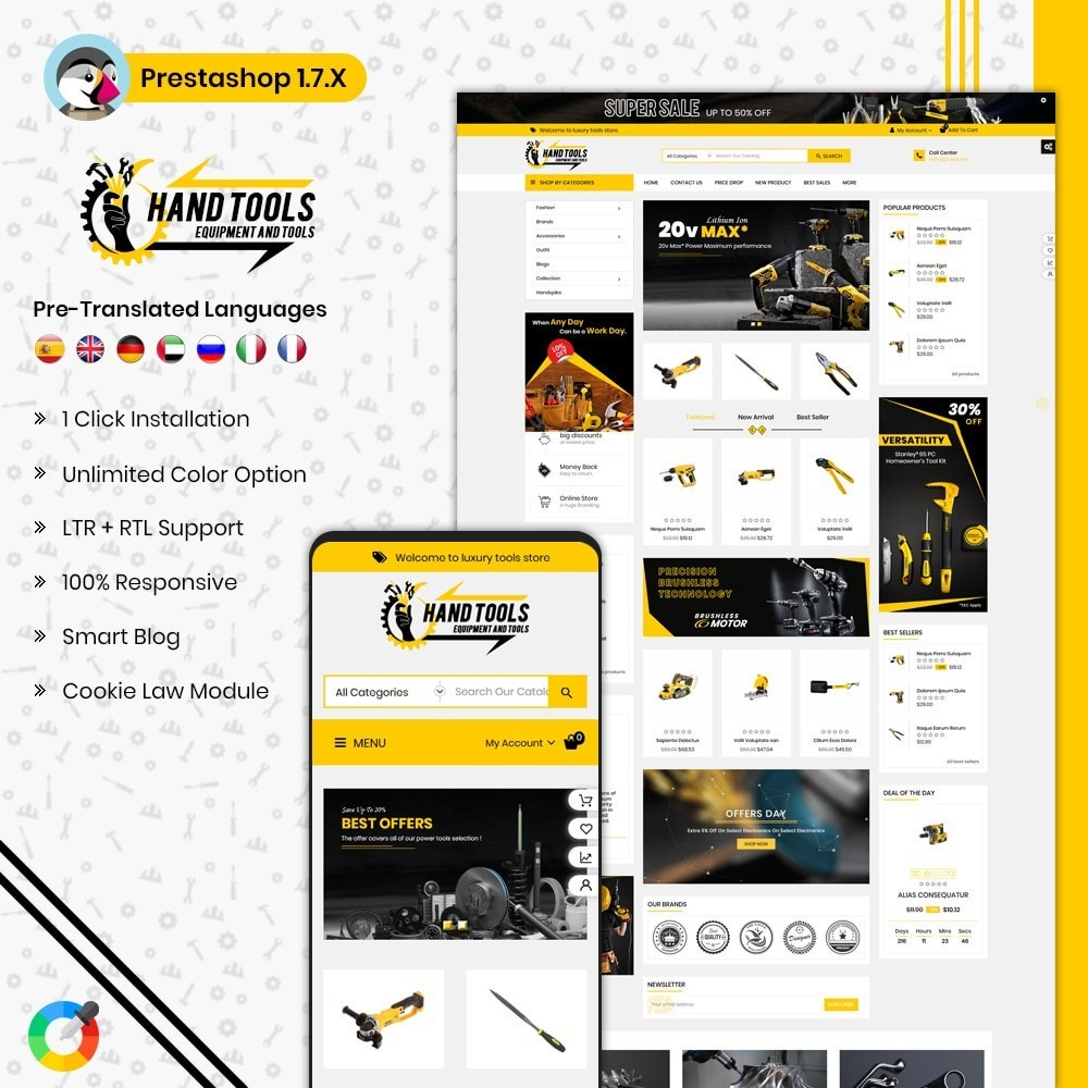 theme - Automotive & Cars - Mega Tools Shop - 1