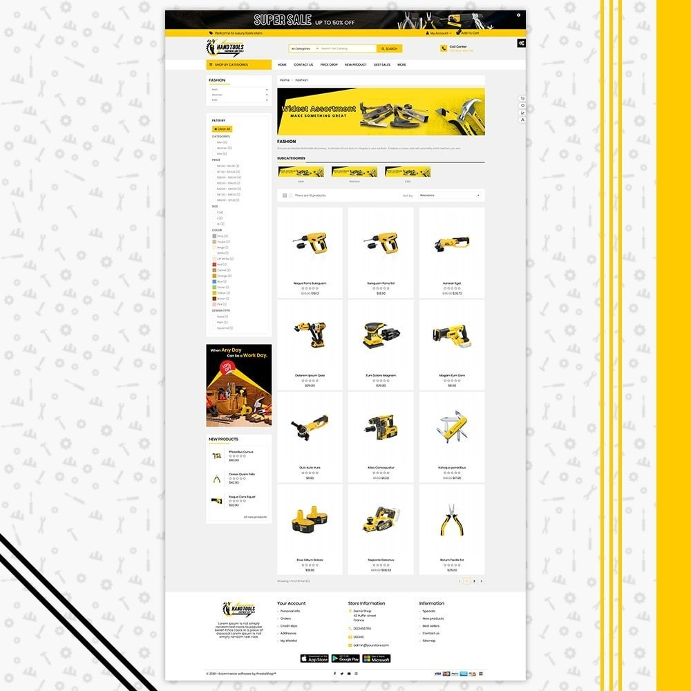theme - Automotive & Cars - Mega Tools Shop - 3