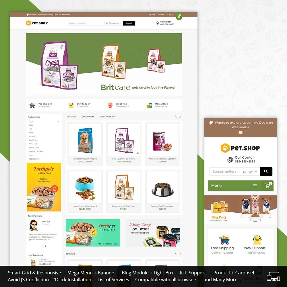 theme - Animais - Mega Pet Food - 1
