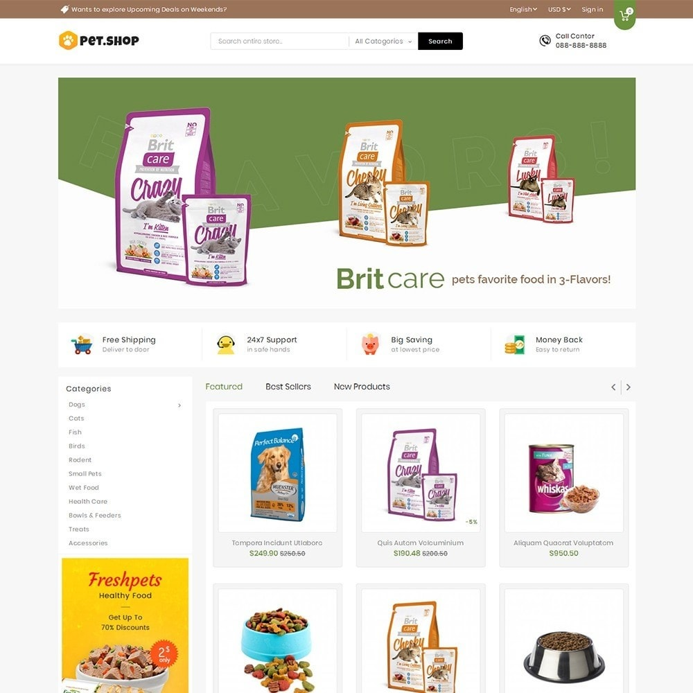 theme - Animais - Mega Pet Food - 2