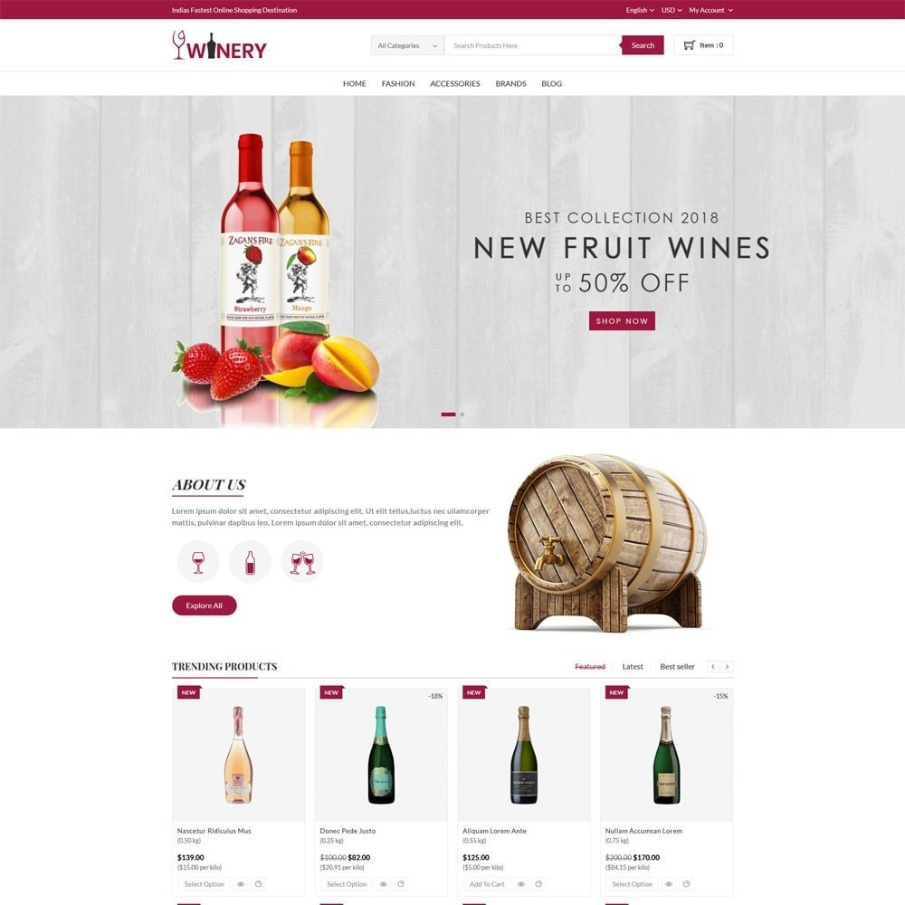 theme - Drink & Wine - Winery Store - 2
