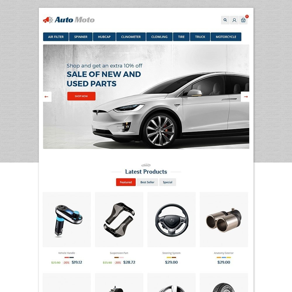 theme - Automotive & Cars - Automoto Auto Store - 2
