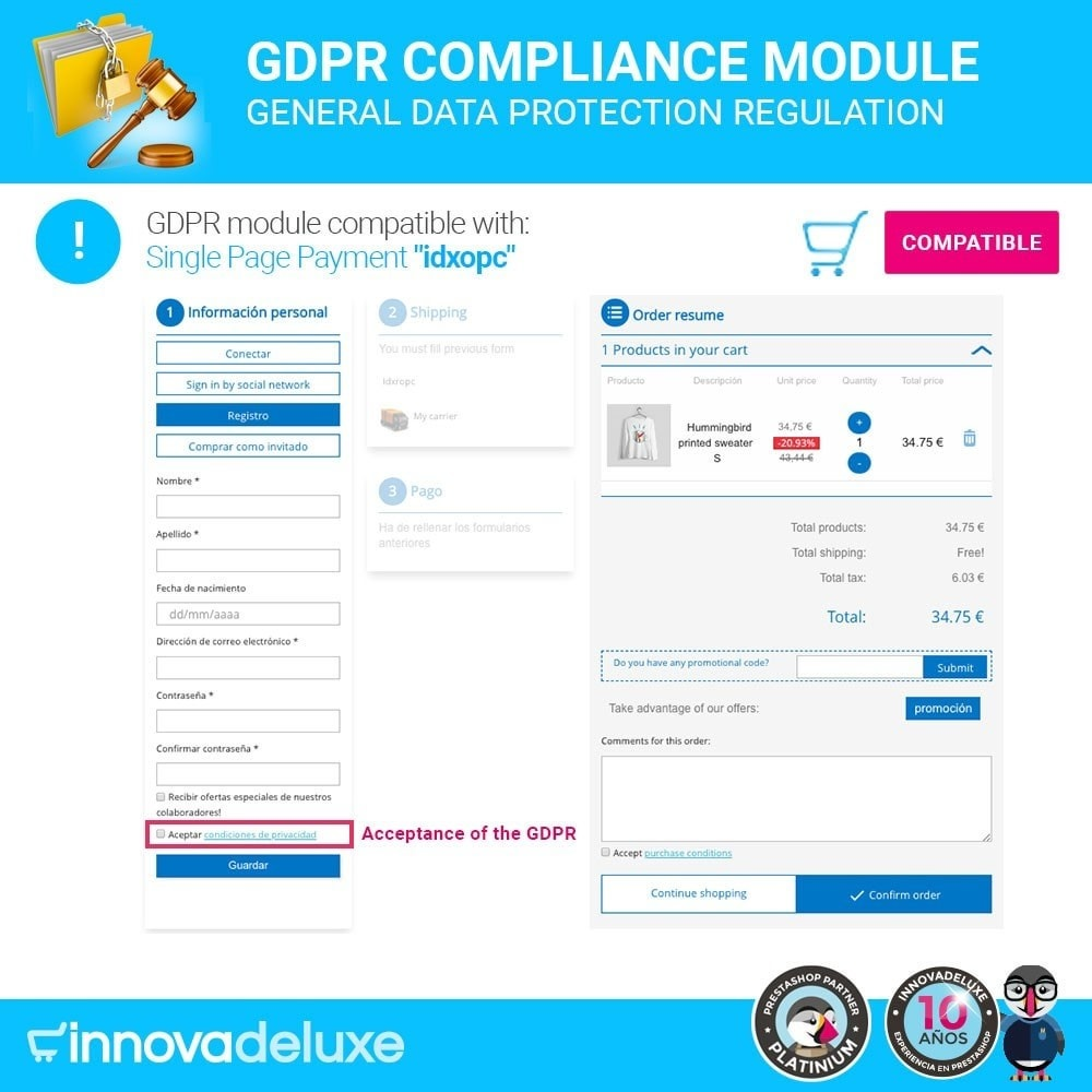 module - Legal - Data privacy extended (data protection law) - GDPR - 16