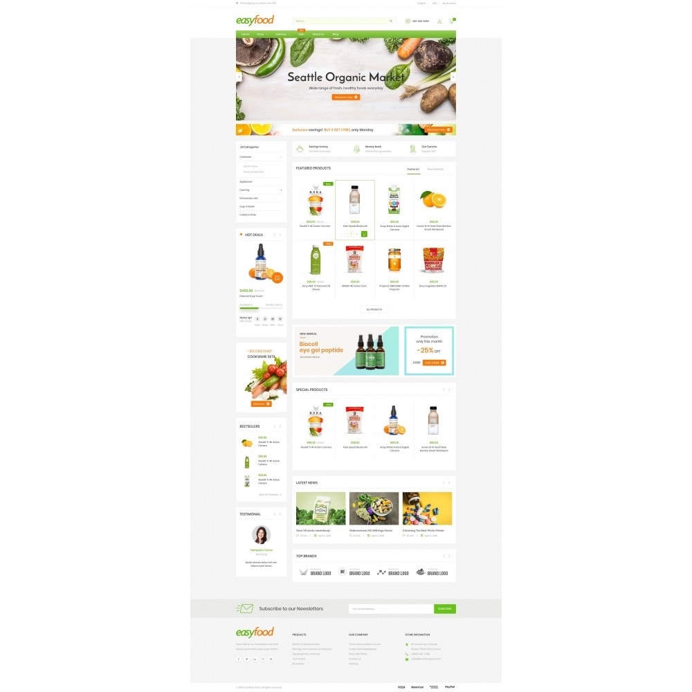 theme - Food & Restaurant - EasyFood Store - 2